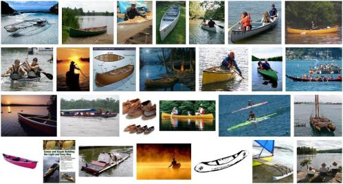 canoes on google image search