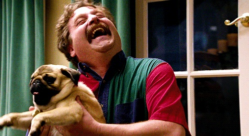 happy guy with pug